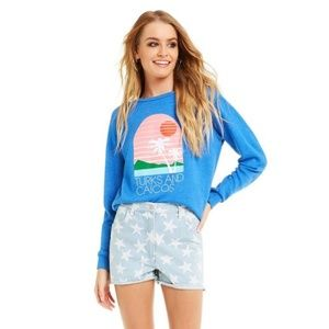 Wildfox Turks and Caicos Fiona Crew Neck Pullover